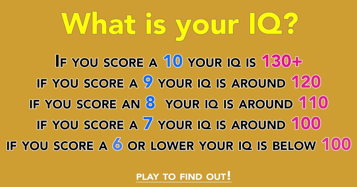 Whats your trivia IQ?