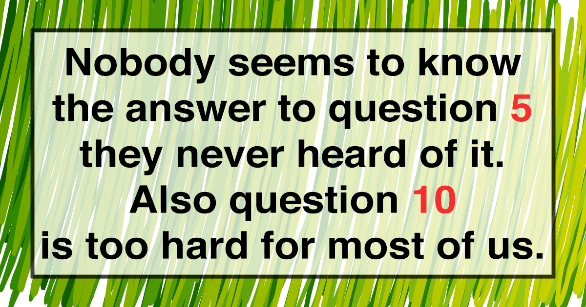 Hard General Knowledge Questions