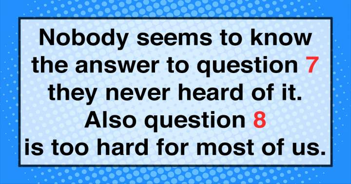 This Knowledge Quiz Is Impossible