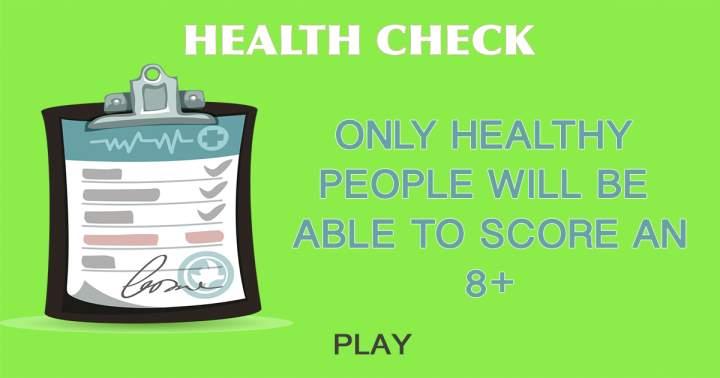 Health Check Quiz