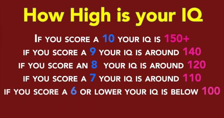Challenging Intelligence Quiz