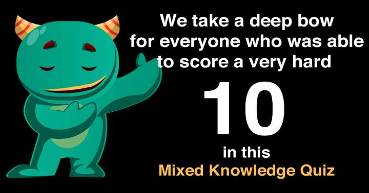 Share your result and we will take a deep bow