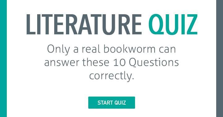 The Ultimate Bookworm Quiz