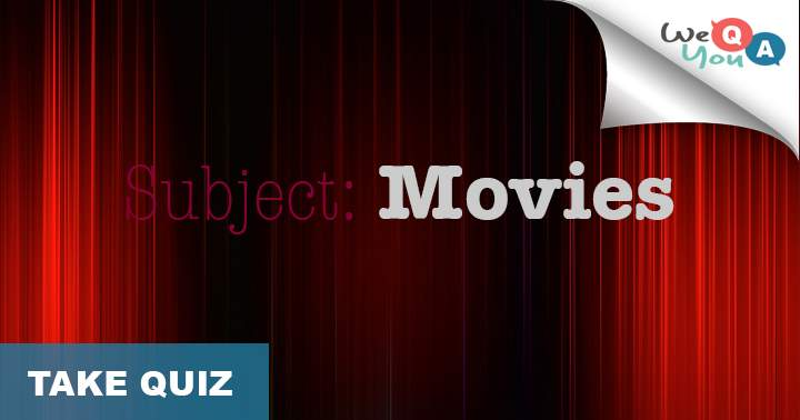 10 questions about movies, we think you wont even get 6 correct unless you're a real movie enthousiast.