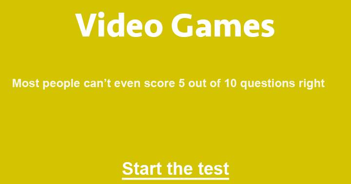 10 challenging questions about video games