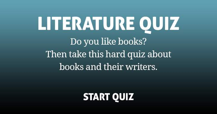 Are you a book lover? Then you will enjoy this hard quiz.