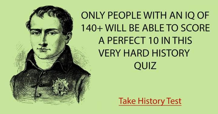 Very Hard History Quiz